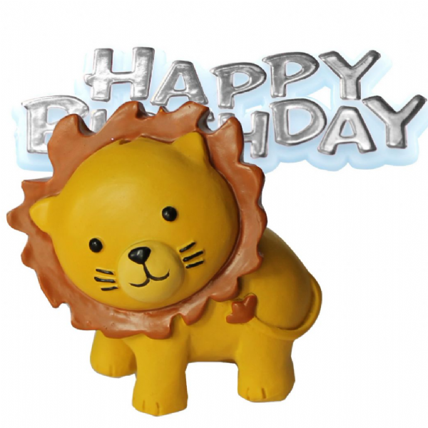 Zoo Animal Lion Cake Topper